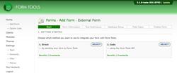 Add External Form - Step 1