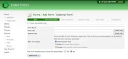 Add External Form - Step 2, direct form
