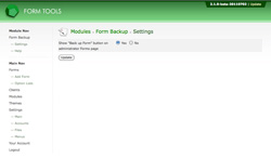 Form Backup - Settings